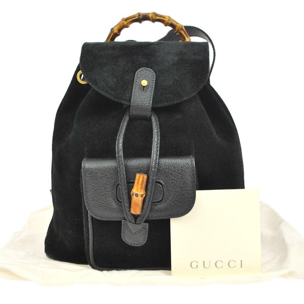 db09e8ebe42 Vintage Gucci Bamboo Backpack- Fenix Toulouse Handball