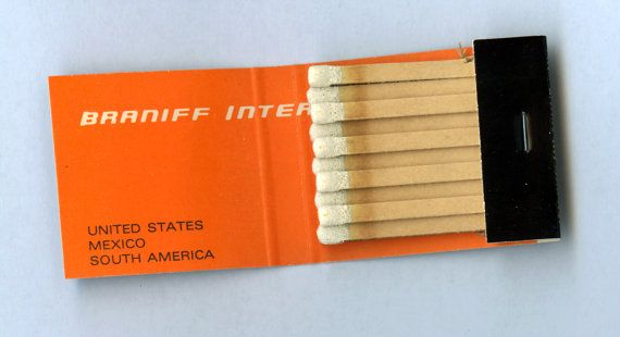 Braniff International Matches Alexander Girard. To order your business' own custom #matchbooks GoTo www.GetMatches.com or call 800.605.7331 Today!