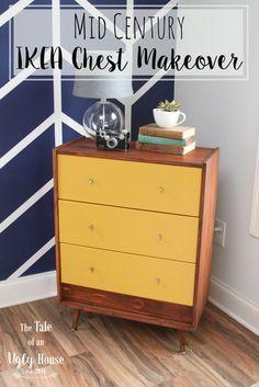 ikea rast chest mid century makeover cosas interesantes pinterest m bel kommode und. Black Bedroom Furniture Sets. Home Design Ideas