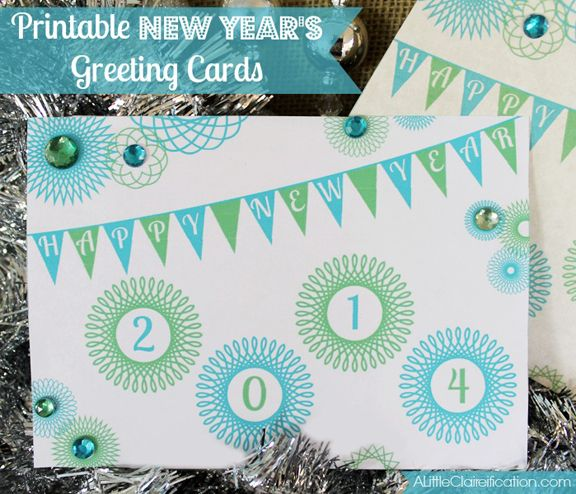 free printable new years greeting cards at a littleclaireificationcom newyears printables free
