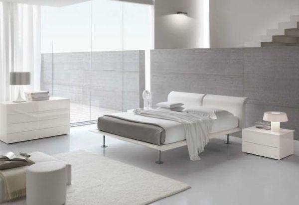Minimalismus zu Hause einladen-Ideen für modernes Schlafzimmer in - schlafzimmer ideen weis modern