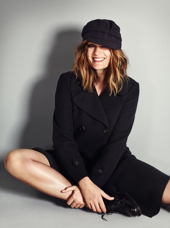 Yasmin Le Bon wearing a jacket from the Giorgio Armani New Normal collection