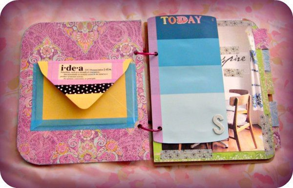 washi tape planner. cute. possible letter? use paint chips...