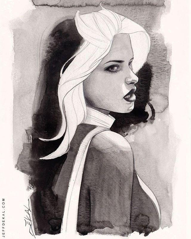 Rogue By Jeff Dekal #watercolor Commission. #rogue #marvel