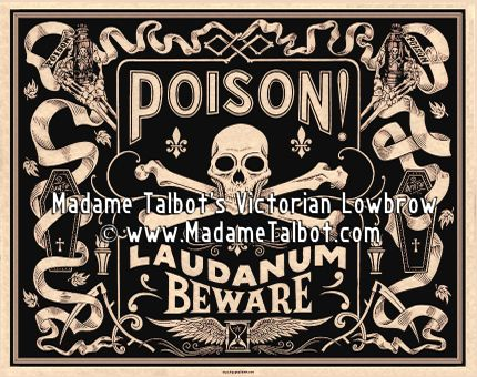 Victorian Laudanum Poison Poster by Madame Talbot | Art Prints ...