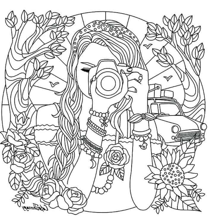 Printable Coloring Pages For Teens In 2020 Abstract Coloring Pages Tumblr Coloring Pages Coloring Pages For Girls