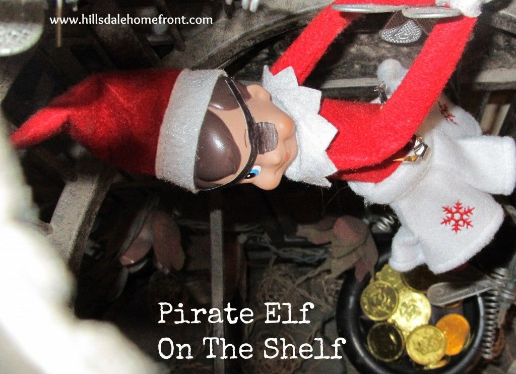 Pirate elf on the shelf complete with chocolate treasure gold coins pirate elf on the shelf complete with chocolate treasure gold coins spiritdancerdesigns