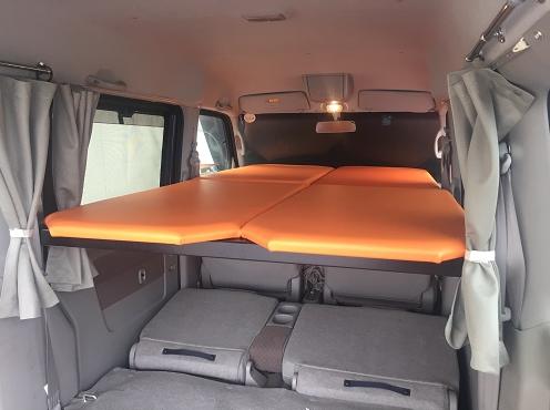 軽自動車用二段ベッドキット 旅らく 通販 二段ベッド キャンプ用ベッド エブリィ 内装