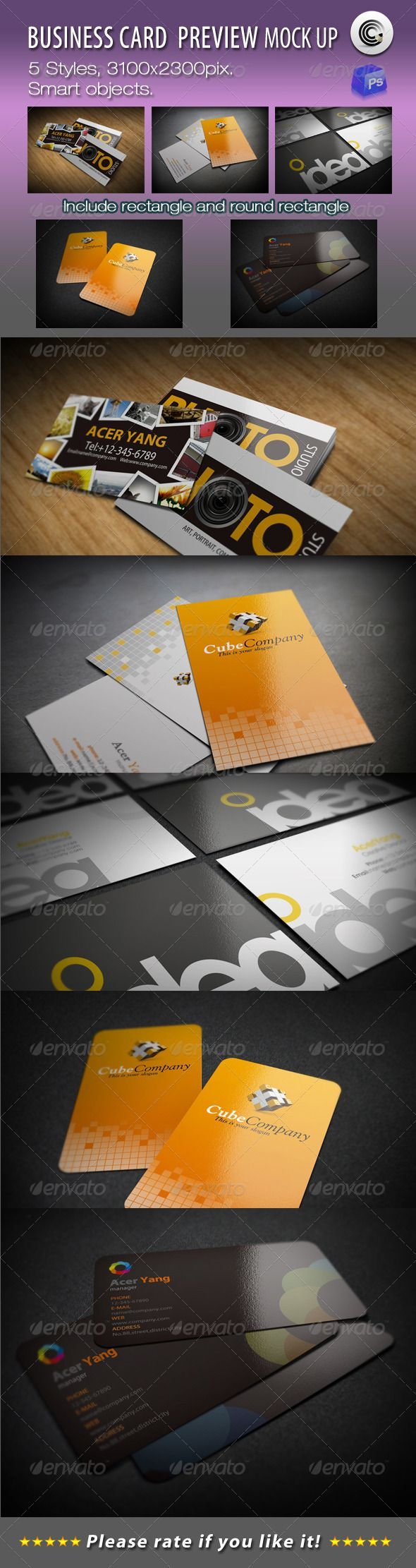 5 styles business card preview mock ups business cards mockup and 5 styles business card preview mock ups colourmoves