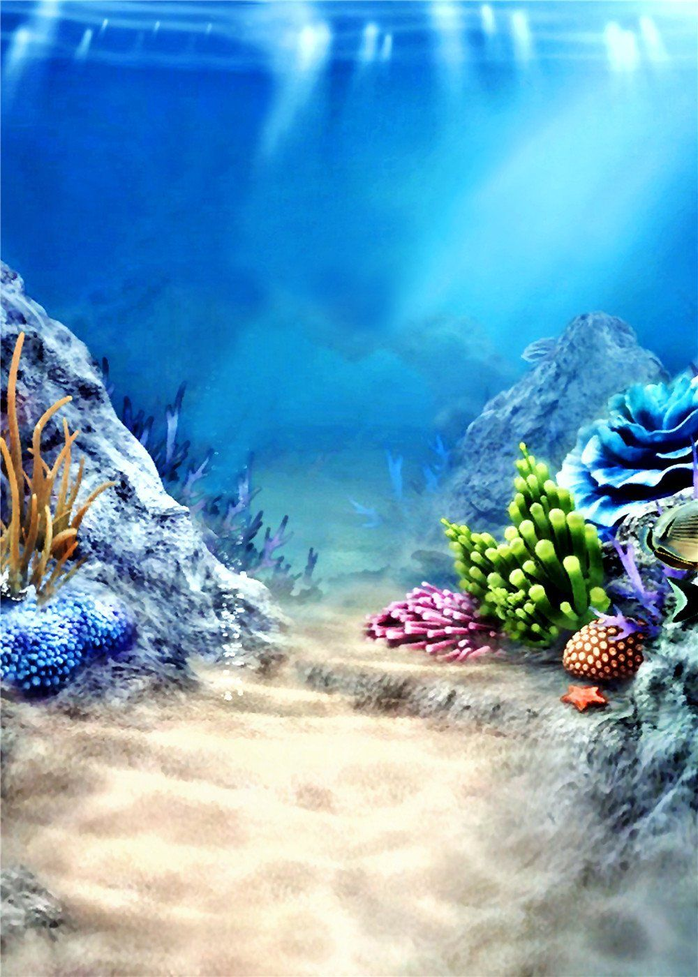 Amazon Com Susu Photography Backgrounds Under Sea