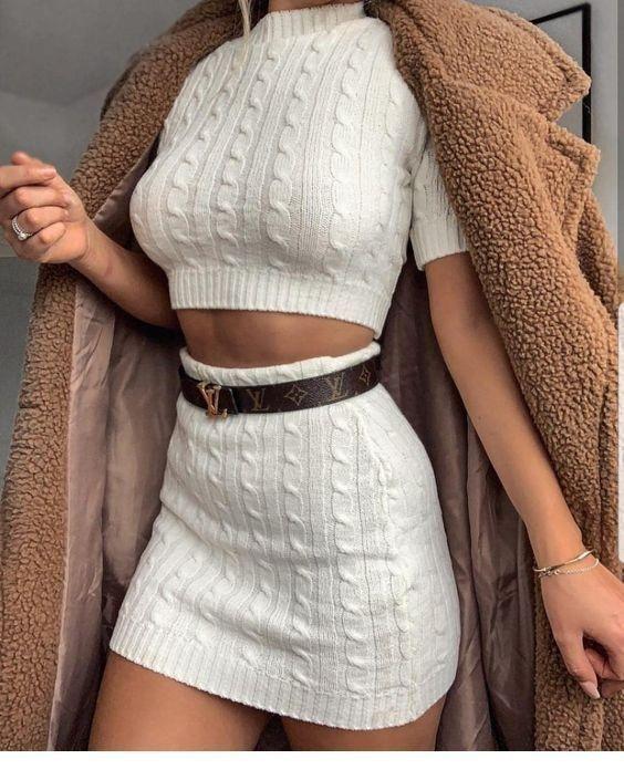 50+ reinweiße Outfits für den Winter – Die Stimmungspalette –  Alle weißen Ou…