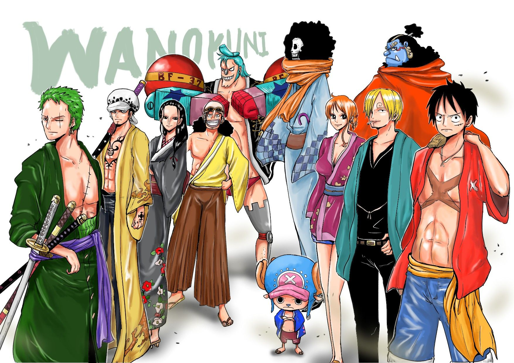 Strawhat Pirates Wano Kuni One Piece One Piece Crew