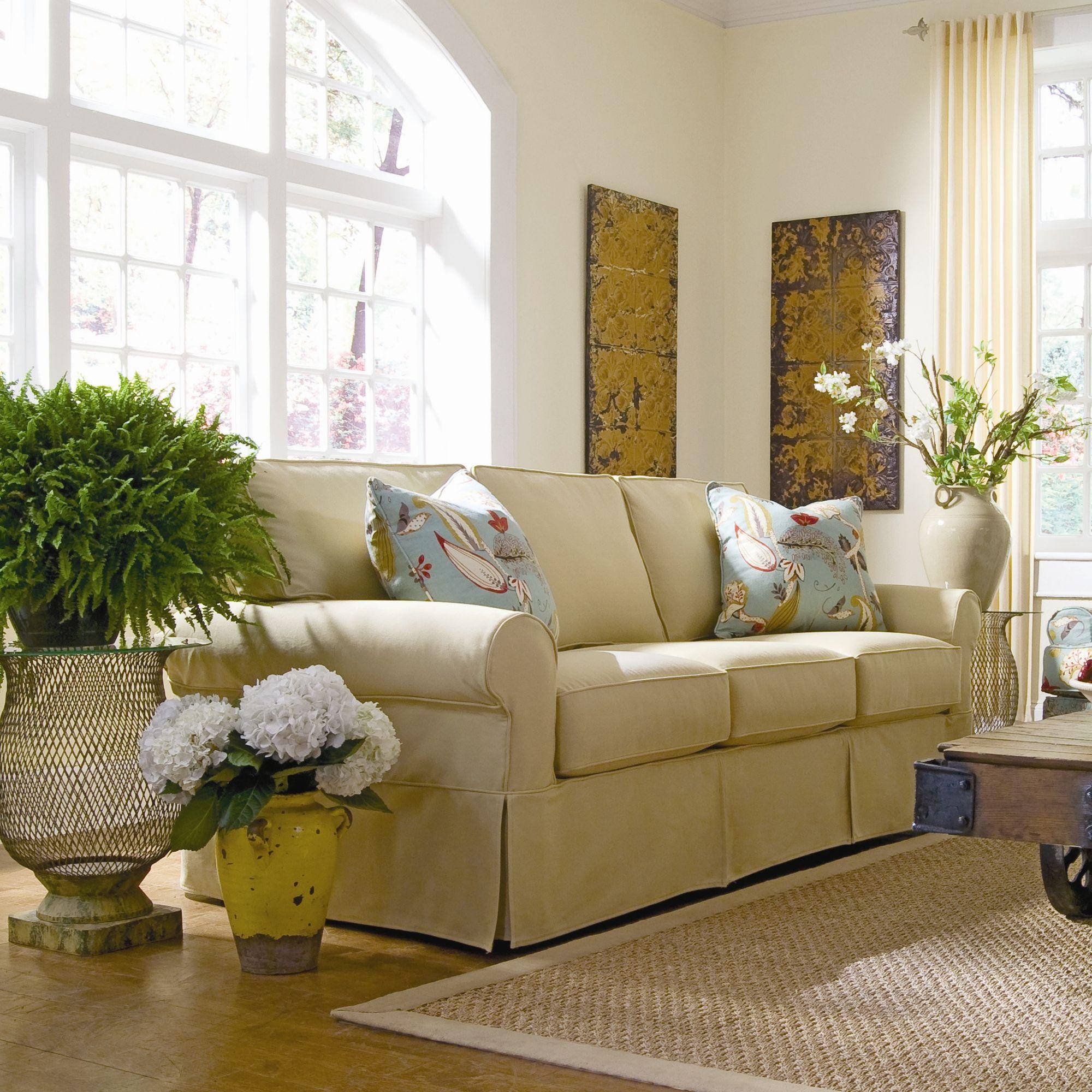 Rowe Furniture Nantucket Slipcover Sofa L84 X D40 H36 Seat Height 21