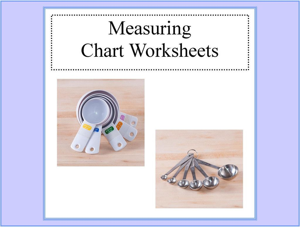 Kitchen Measuring Chart Worksheets