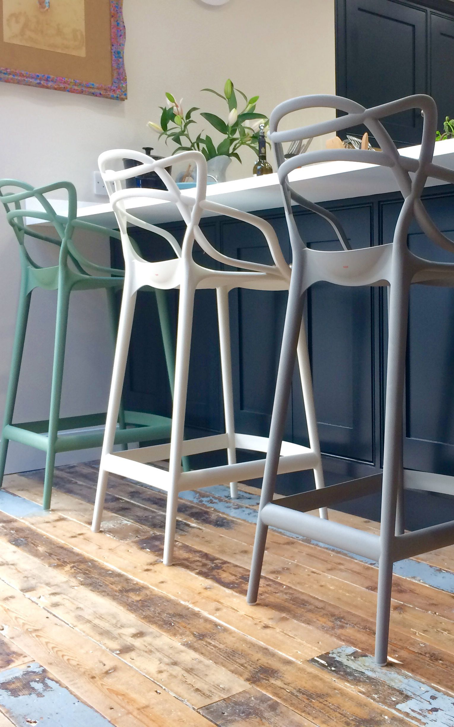 Tabouret De Bar Kartell.Kartell Masters Stools Look Great With Breakfast Bars The