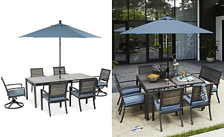 Harlough Outdoor Aluminum 7 Pc Dining Set 84 X 42 Dining Table