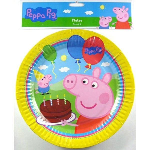 8 x Peppa Pig Dinner Plates Birthday Party Supplies Pepper  sc 1 st  Pinterest & Peppa Pig Party Supplies and Decorations | HL 3rd Bday party ...