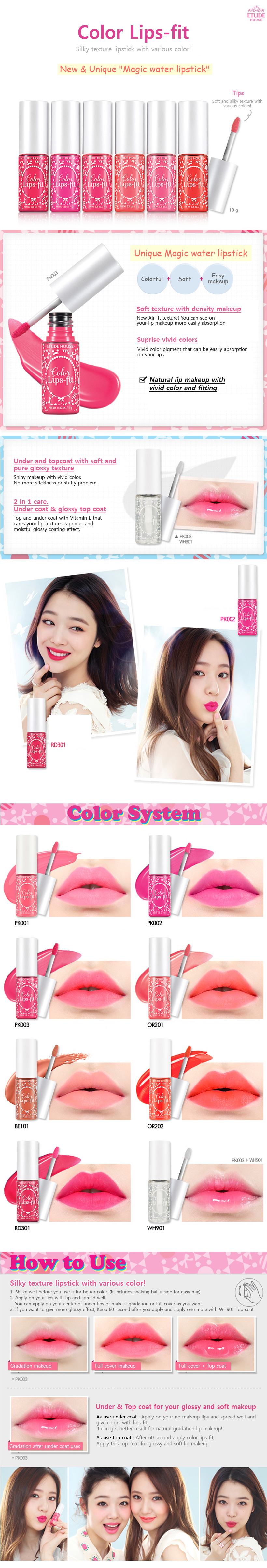 Etude House Korea Jakarta: Etude House Color Lips-Fit 8 color ...