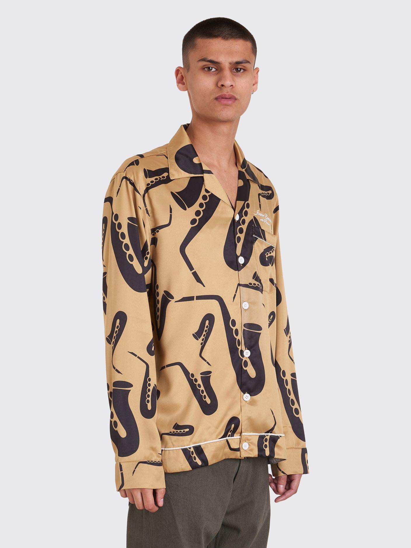 0acfe6f5b Junior Executive With Pleasure Saxophone Shirt Gold   Shirts ...