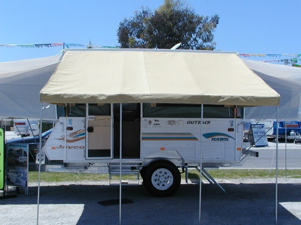 Jayco 12 White Bag Awning Made For A 12 Pop Up Camper 265 00 Made Of Heavy Duty Vinylmade For A 12 Popup Campercomes Complete Ready To Slide Into A Cee
