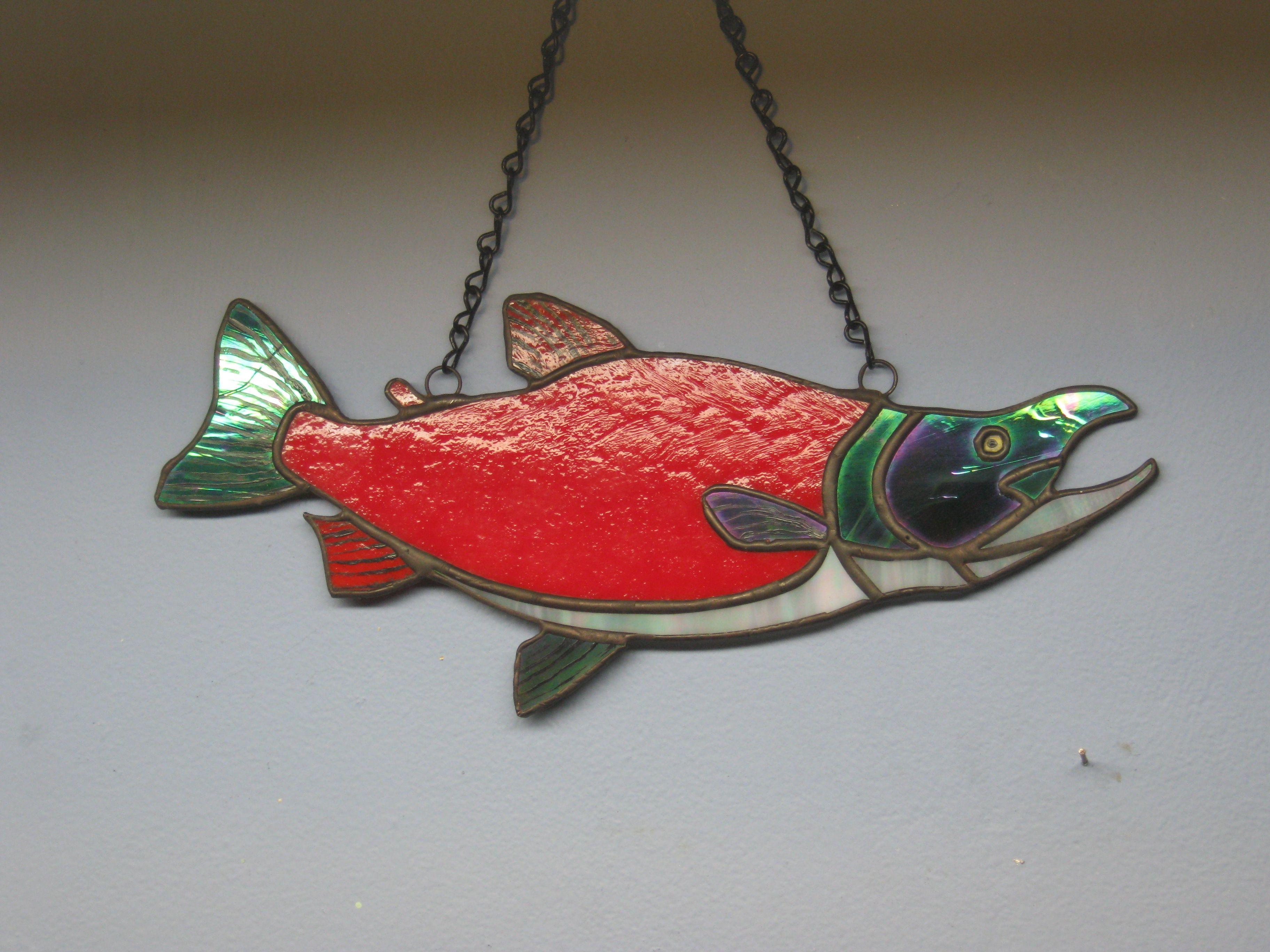 Stained Glass Kokanee Salmon (Land locked Sockeye Salmon) (6\