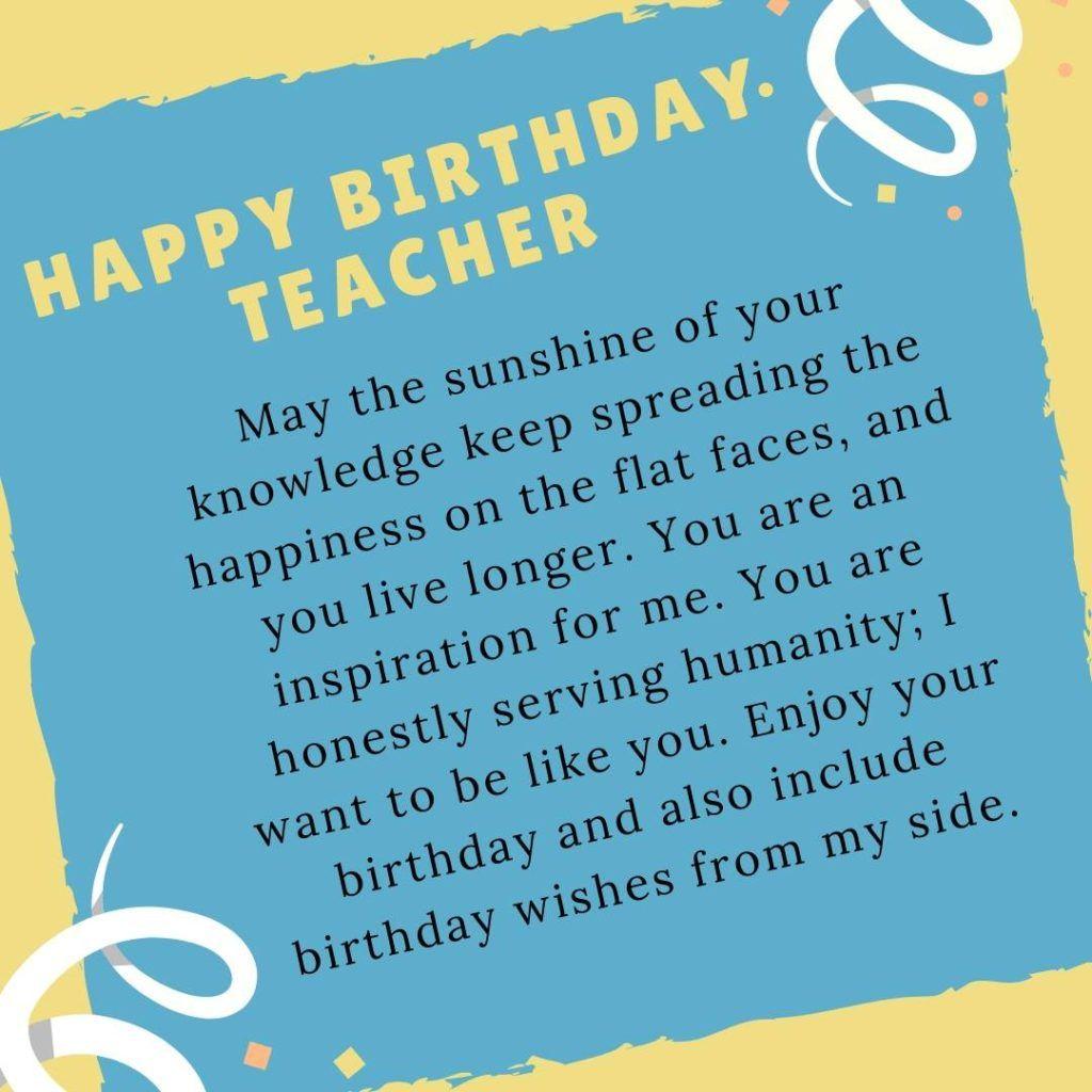 Birthday Wishes For Teacher Wishesforteacher Birthdaywishesforteacher Birthdaywi Birthday Quotes For Teacher Wishes For Teacher Birthday Wishes For Teacher