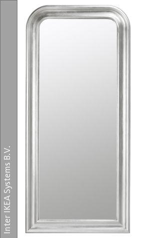 Diesen Silberfarbene Spiegel Songe Ist Bei Ikea Erhaltlich Masse91x197