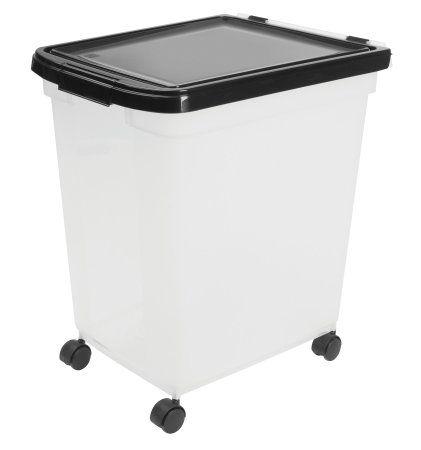 Amazon Com Iris Airtight Pet Food Container 50 Pound Clear