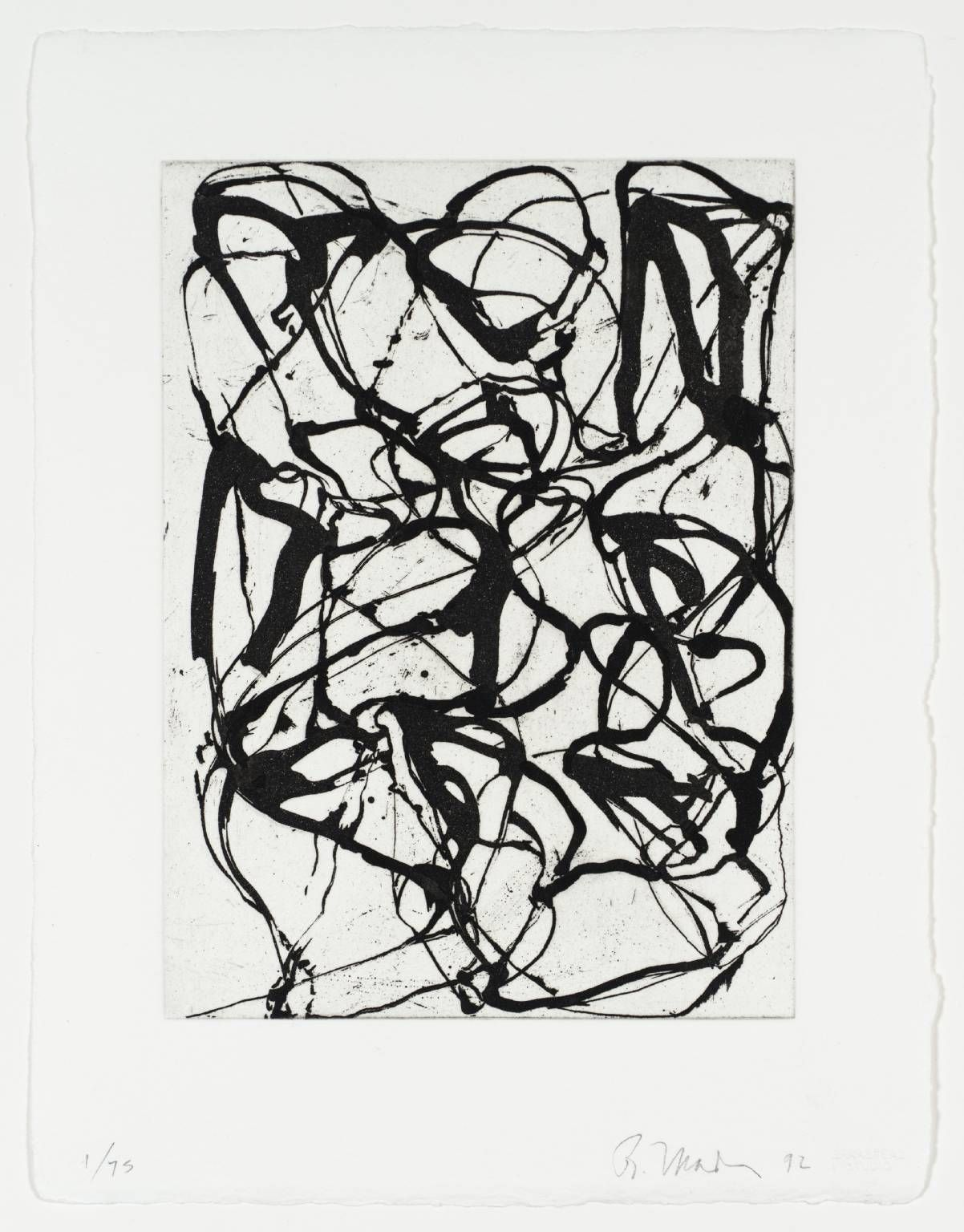 Brice marden looks like picasso black and white paintings