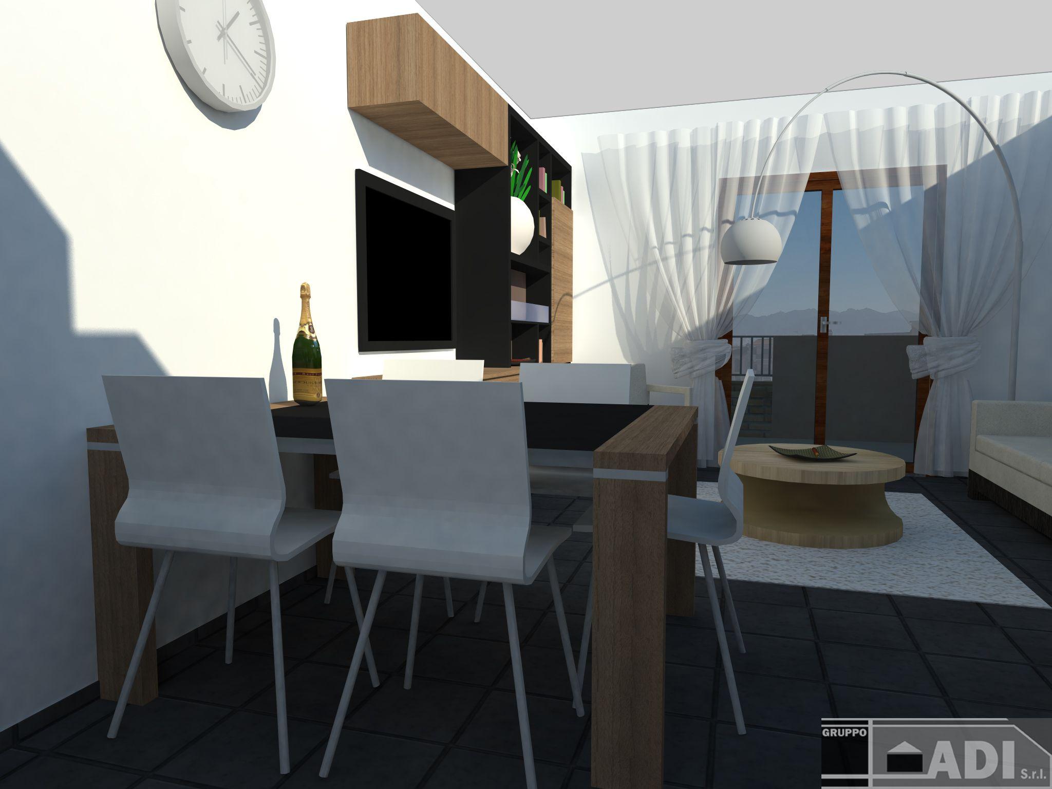 Soggiorno-angolo cottura | Interni render MM89 | Pinterest