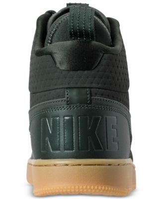 detailed look d31b1 bce48 Nike Men s Court Borough Mid Winter Outdoor Casual Sneakers from Finish Line  - Green 11.5