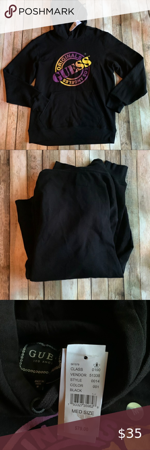 Guess Ombre Logo Hoodie Nwt Guess Ombre Logo Hoodie New With Tags Size Men S Medium Cotton Material Black Wi Long Sleeve Tshirt Men Clothes Design Plus Fashion [ 1740 x 580 Pixel ]