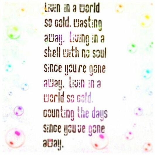 World So Cold Three Days Grace Tab Three Days Grace Music Lyrics Day