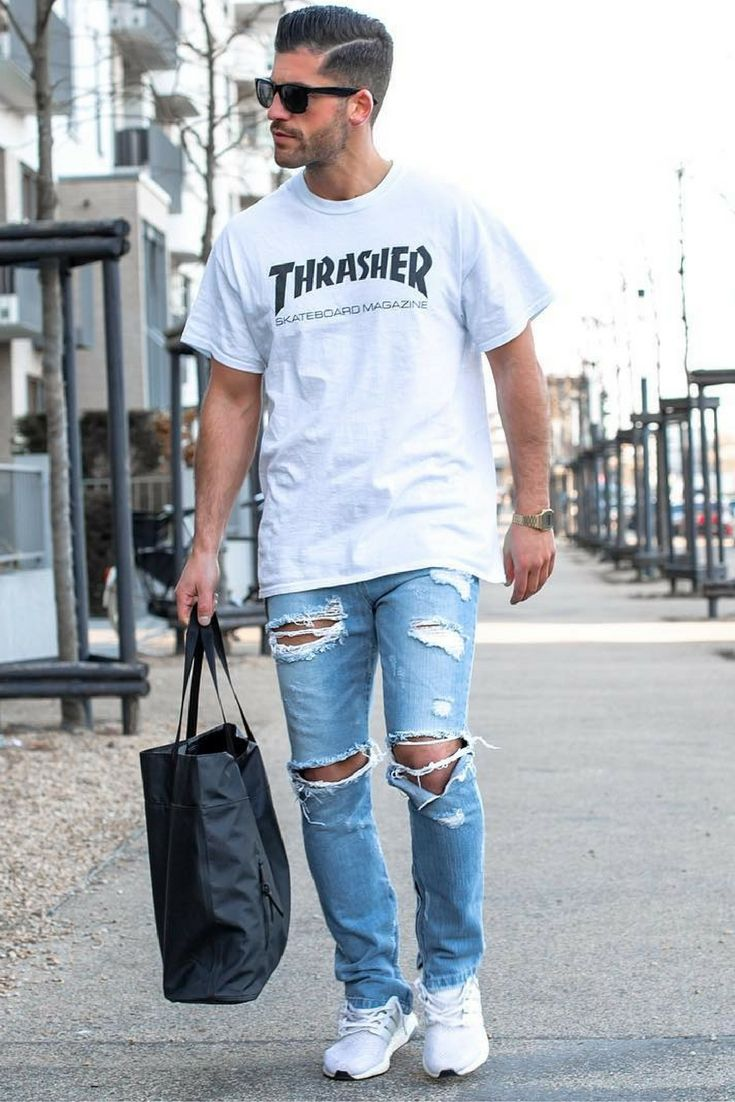 6bf2961968 How To Wear Ripped Jeans For Men.  mens  fashion  style