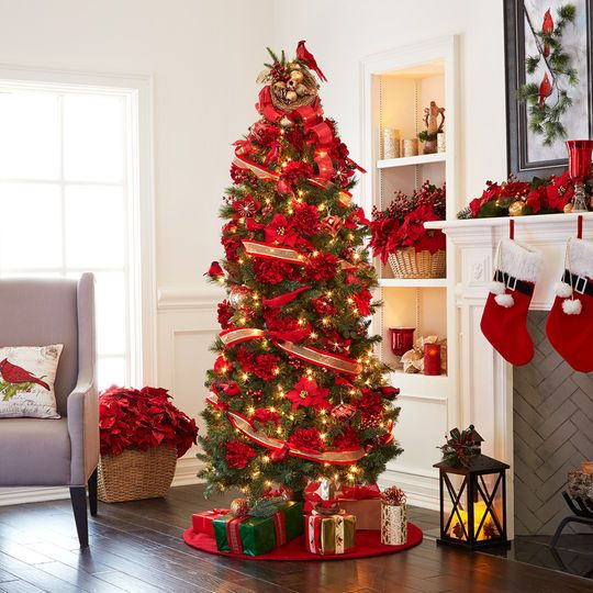 7ft christmas tree with lights flocked pencil ft prelit willow pine artificial christmas tree clear lights by celebrate it 7ft