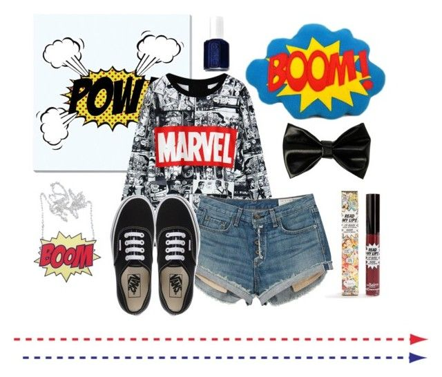 """""""For all the nerds out there like meee ❤️"""" by sukhaulakh on Polyvore featuring beauty, Universal Lighting and Decor, rag & bone, Vans, TheBalm and Essie"""