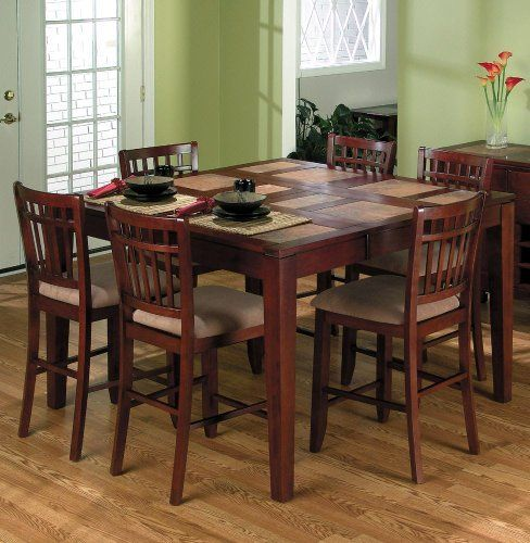 Amaretto Finished Counter Height Table By Jofran 600 00 Width 36 Assembly Required Some Assembly Req Bar Height Dining Table Dining Room Table Dining Table