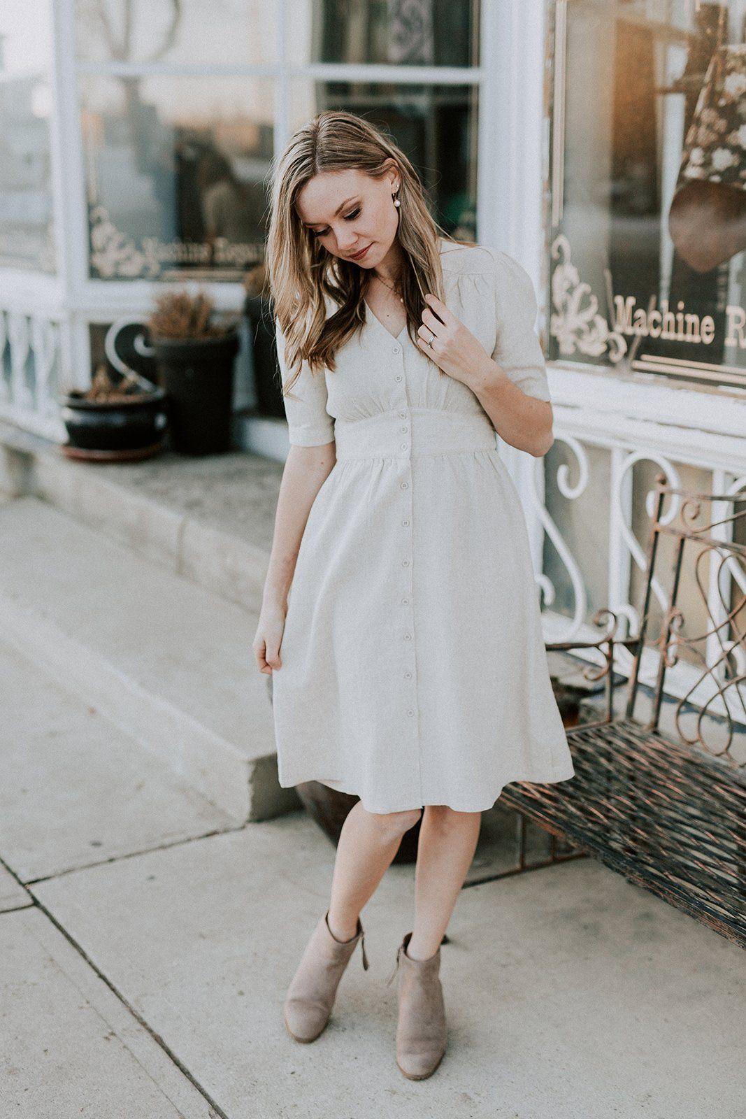 8dc1e13021d23 When In Rome Linen Dress – Ivy + June. When In Rome Linen Dress – Ivy +  June. Nursing friendly dress, breastfeeding friendly. Easter dress, spring  dress, ...