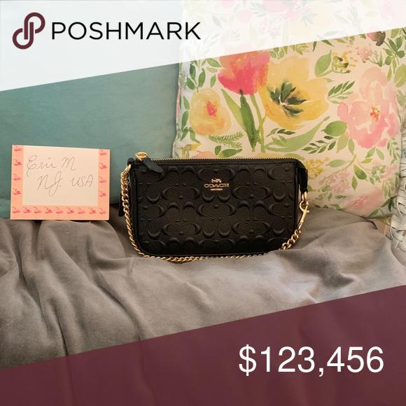 Coach Mini Pochette | Mini bag, Mini, Embossed leather