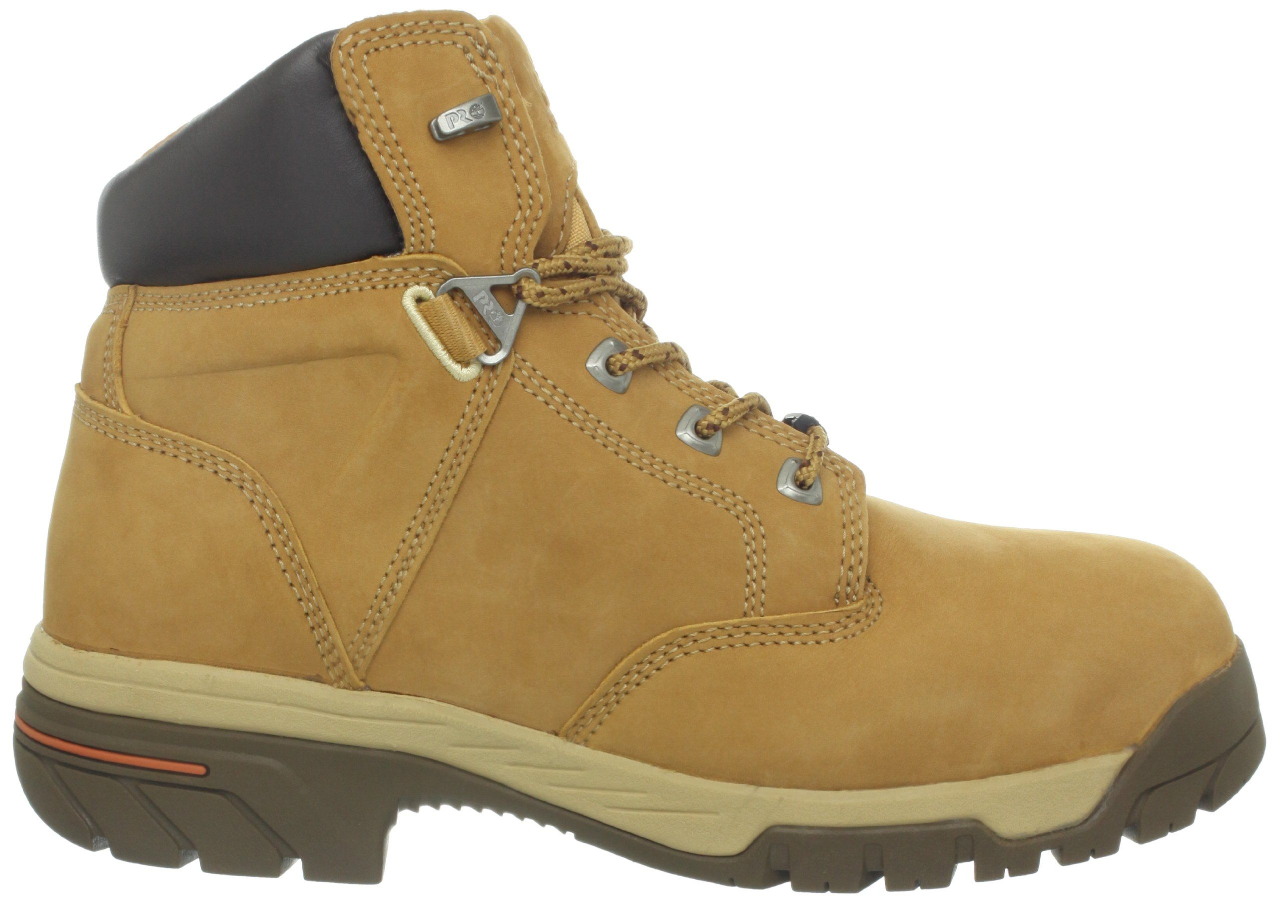 Timberland PRO Mens Helix 6 Inch Waterproof IN Comp Toe Work BootWheat  Nubuck10 W US >