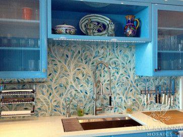 Climbing Vine Jewel Glass Mosaic eclectic kitchen