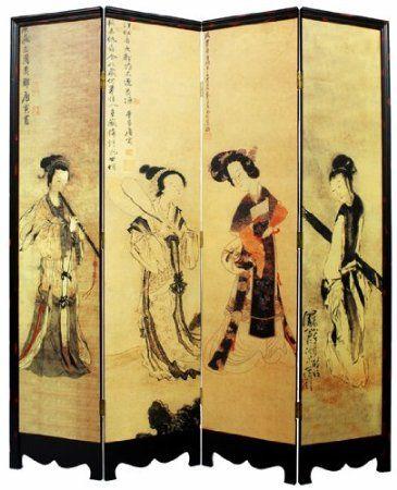 Unique Asian Furniture Dcor 72 Four Ladies Oriental Art Print