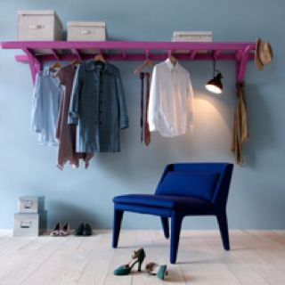 A closet anywhere! Use an old ladder as an entryway coat hanger, or for a room with no closet.