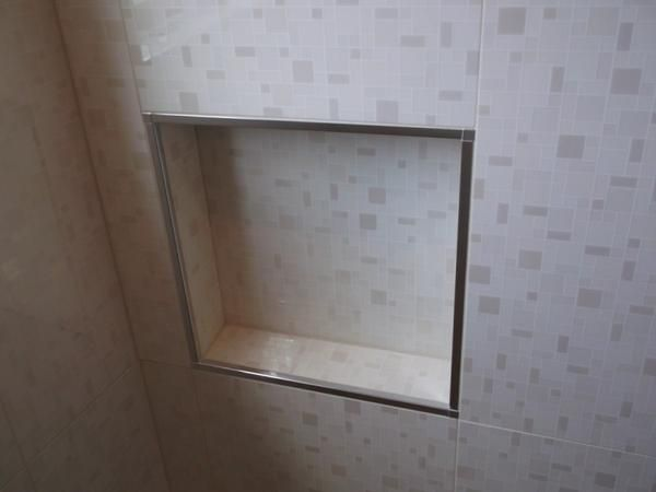 schluter edge on shower niche