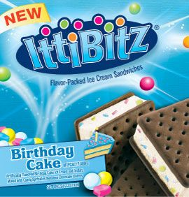 IttiBitz Sandwiches Birthday Cake 9pk