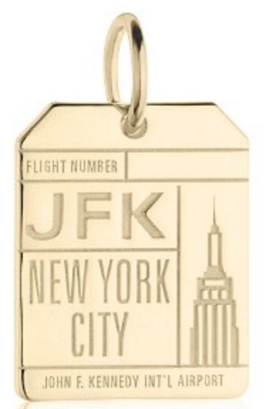 Jet Set Candy Jfk New York Luggage Tag Charm
