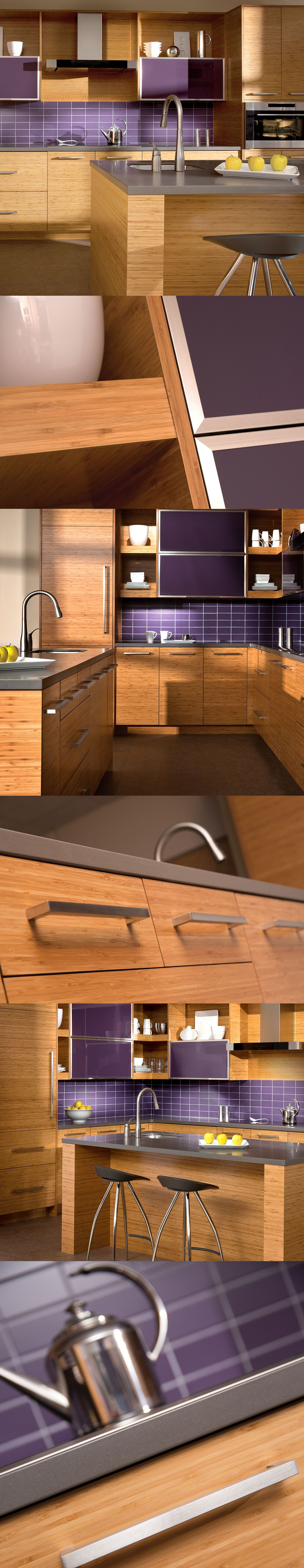 Best Contemporary Kitchen Design With Bamboo Cabinets Dura 400 x 300