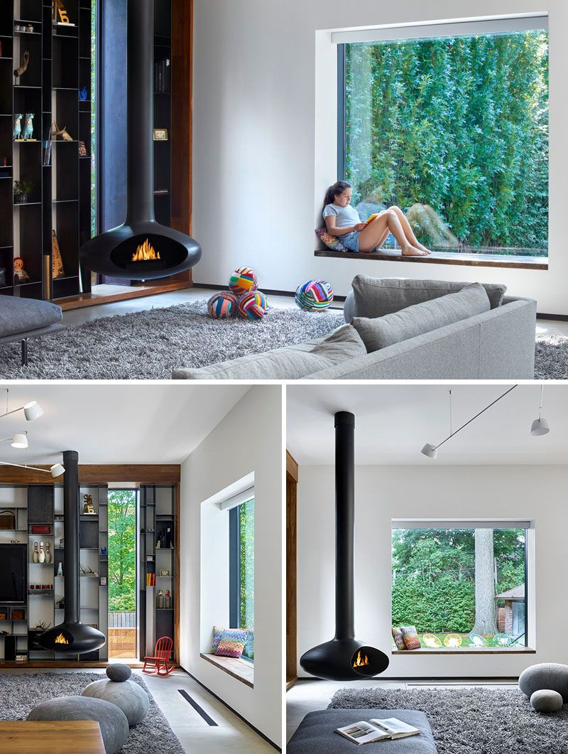 House wooden window design  this  yearold house was given a contemporary update  wooden
