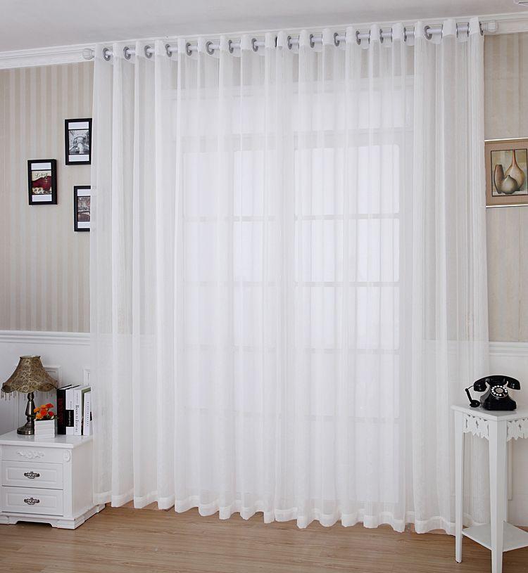 Cortinas blancas friso blanco cortinas pinterest - Cortinas comedor ikea ...