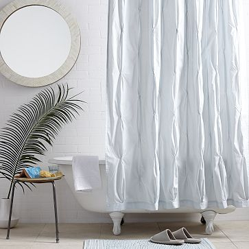 Pintuck Shower Curtain Clearwater Curtains Bathroom Furniture